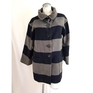 Zara Size M Black Gray Jacket Striped